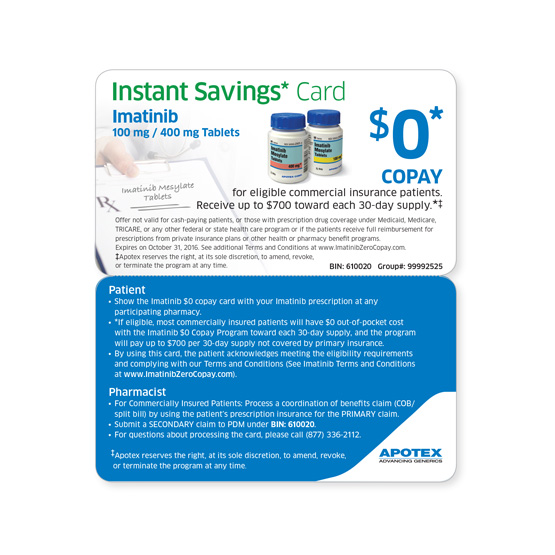 apotex imatinib savings card