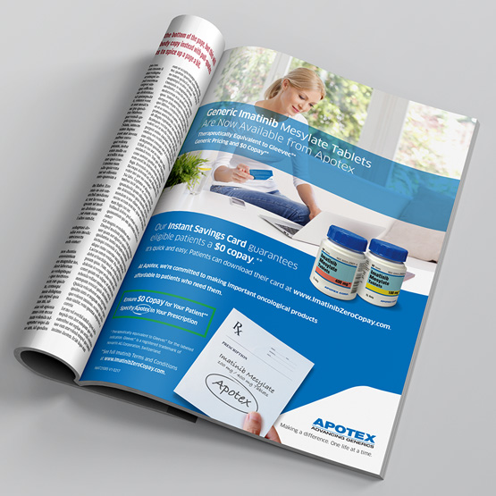 apotex imatinib print advertisement in magazine